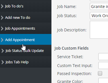 Adding a Job Appointment