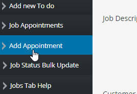Add Job Appointment