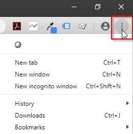 Chrome Browser Settings Button