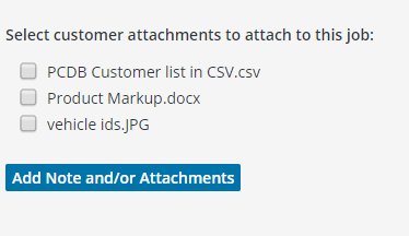 Select Attachments
